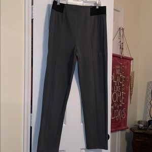 Nice grey pants with stretch side panels